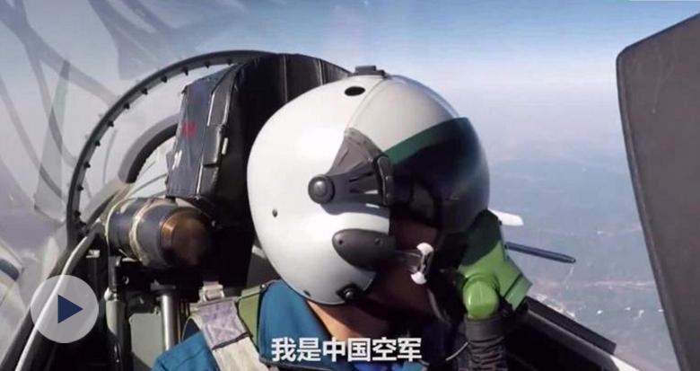 现场画面!空军双语警告驱离外机