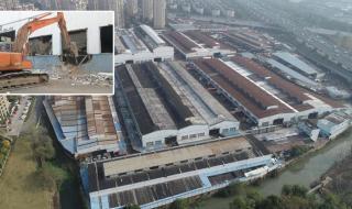 宁波市蔬菜批发市场地块开始拆除