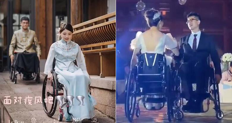 """抖音上播放量过亿!宁波小夫妻""""轮椅舞婚礼""""看哭网友"""