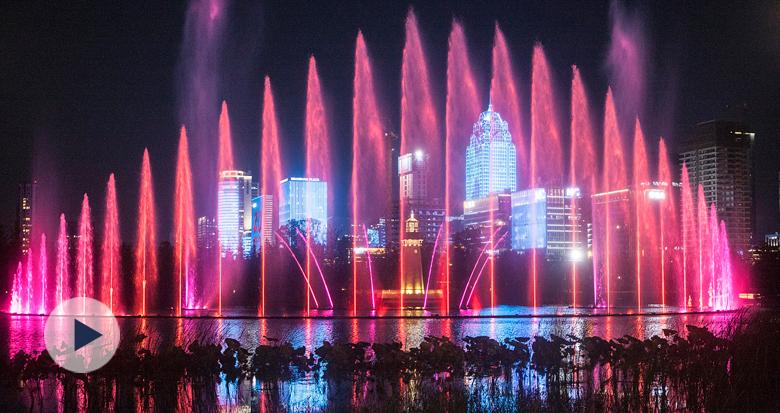 超美!鄞州公园未来将有国际顶级的水秀艺术