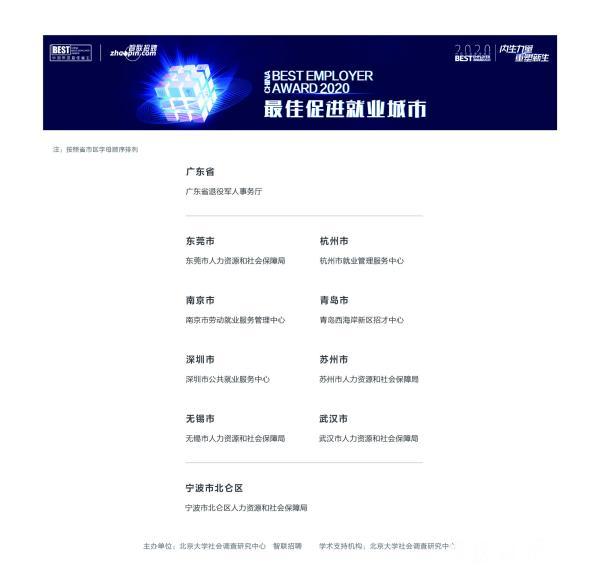 """宁波获评""""最佳引才城市""""奖 北仑荣获""""最佳促进就业城市""""奖"""