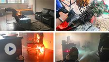 取暖器发生危险有多可怕?宁波消防做了个实验