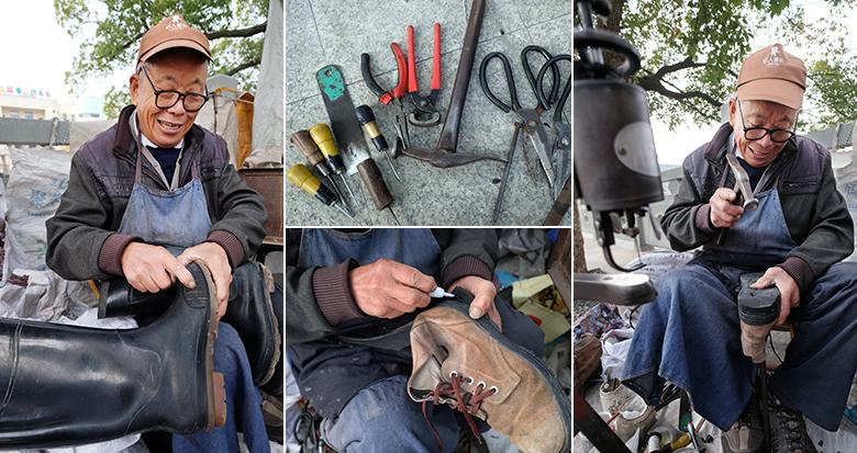 鄞州76岁老师傅补鞋近50年:放不下这门手艺