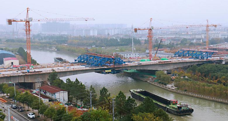 余姚跨姚江大桥正式合龙