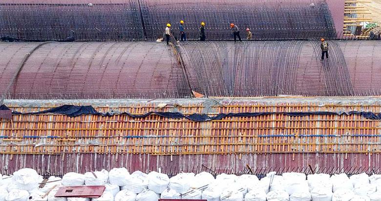 宁海南门大桥改建项目已完成桩基工程