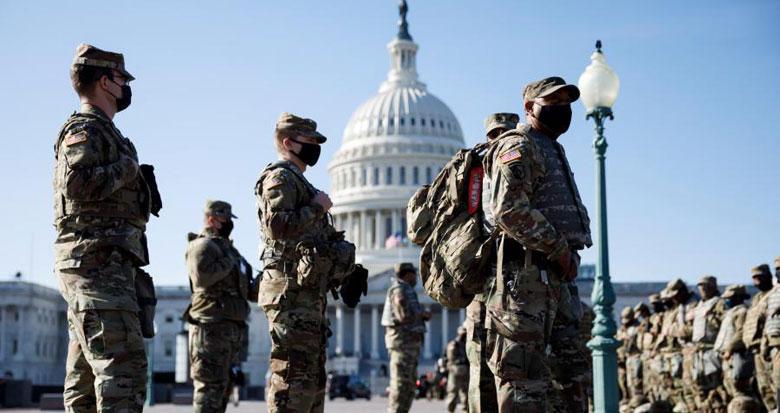 美国国民警卫队进驻国会 承担安保任务