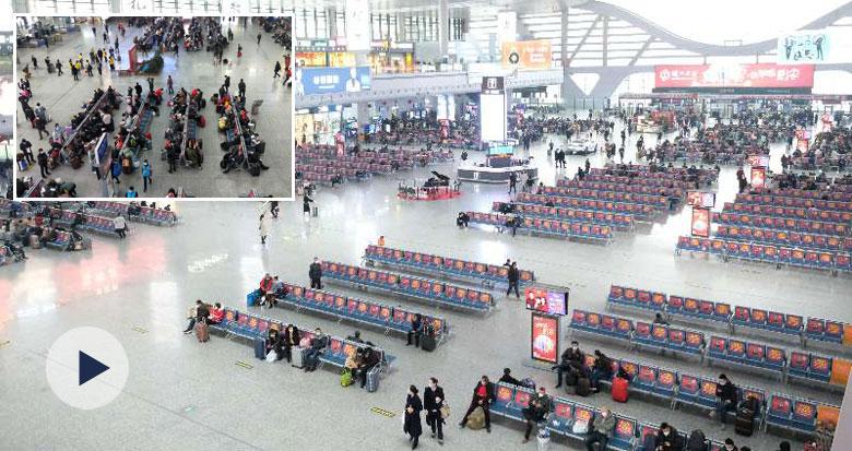 春运首日 铁路宁波站、汽车南站等客流量明显减少