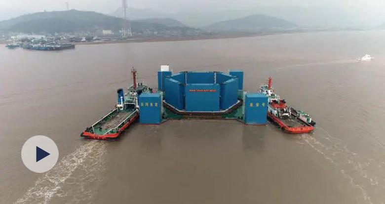 """千吨海上风电安装设备象山造 看""""巨无霸""""如何出港"""