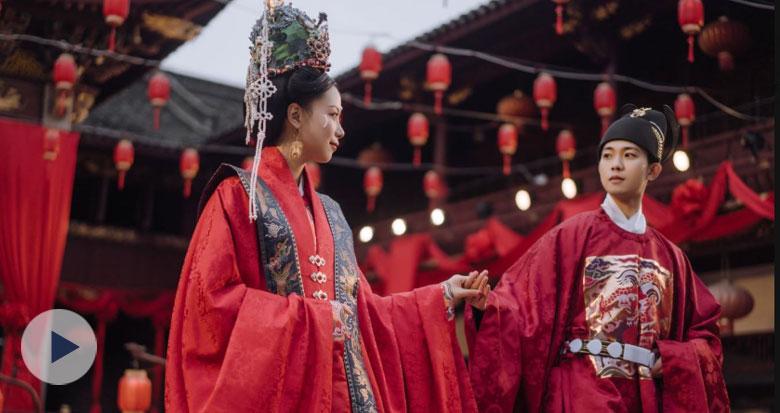 宁波女孩的汉服婚礼太惊艳!视频引200多万人围观