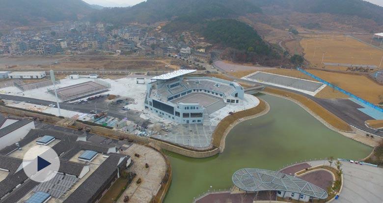 亚运沙滩排球馆主体工程完工 3月份交付