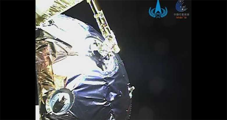 国家航天局发布天问一号探测器火星捕获过程影像