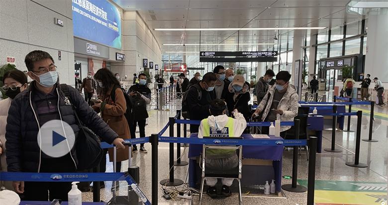 长假最后一天 旅客集中返程!宁波的火车站、机场都挺热闹