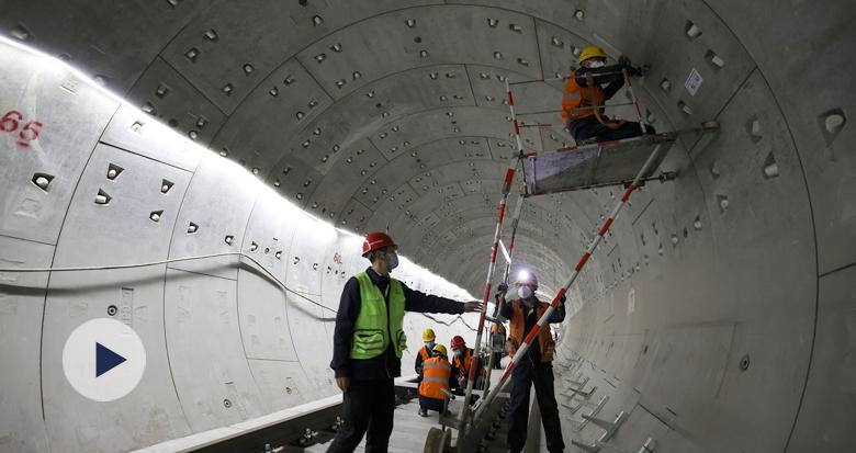 宁波轨道交通施工忙 5号线一期将进行电缆铺设