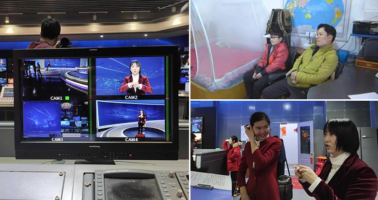 手语翻译首度亮相宁波两会 听障人士第一时间收看直播