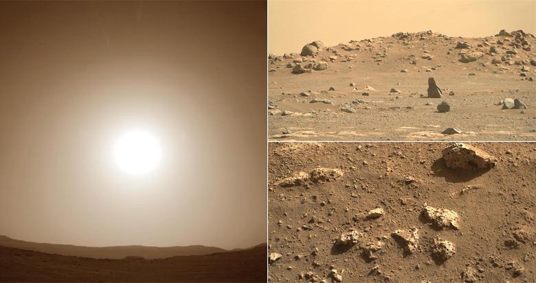 """""""毅力号""""传回6千余张高清照:火星上看太阳是啥样?"""