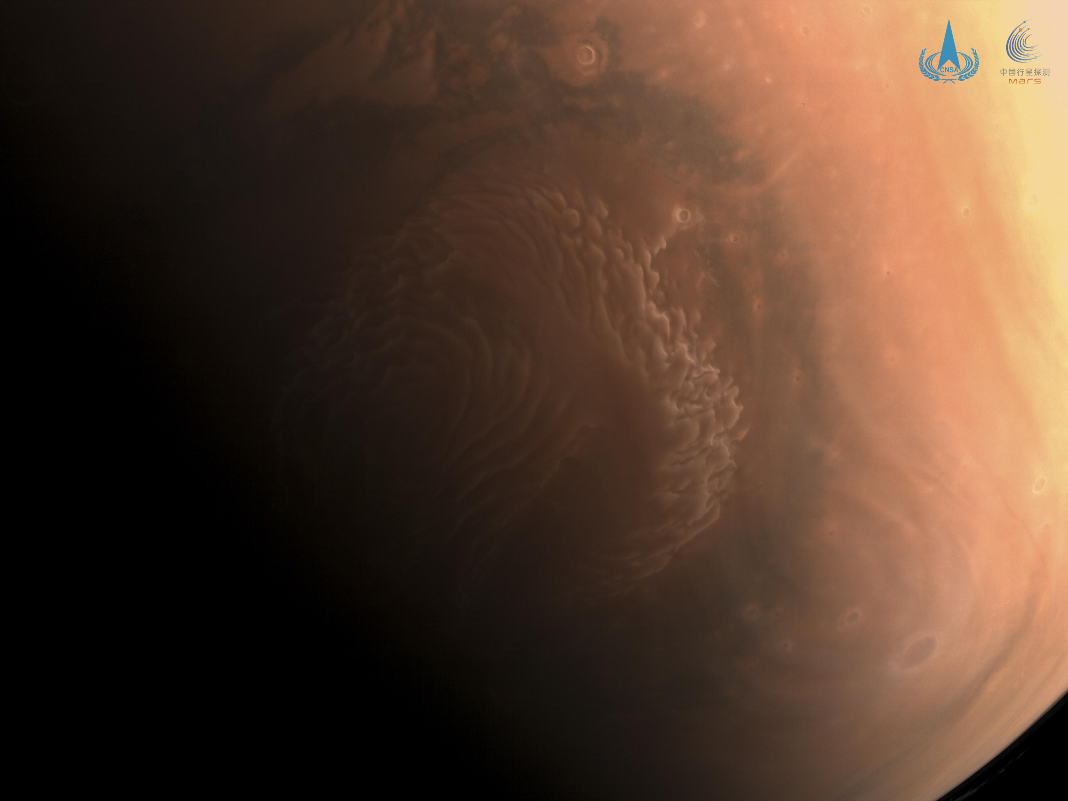 天问一号拍的高清火星照来了!