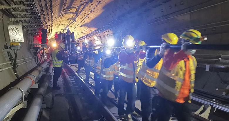 宁波轨道交通5号线一期进入机电施工进行时
