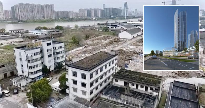 宁波白沙粮库启动拆除工作 将建设城市新地标