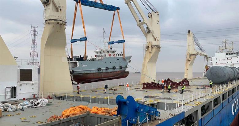 宁波今年首艘渔船整船出口启运
