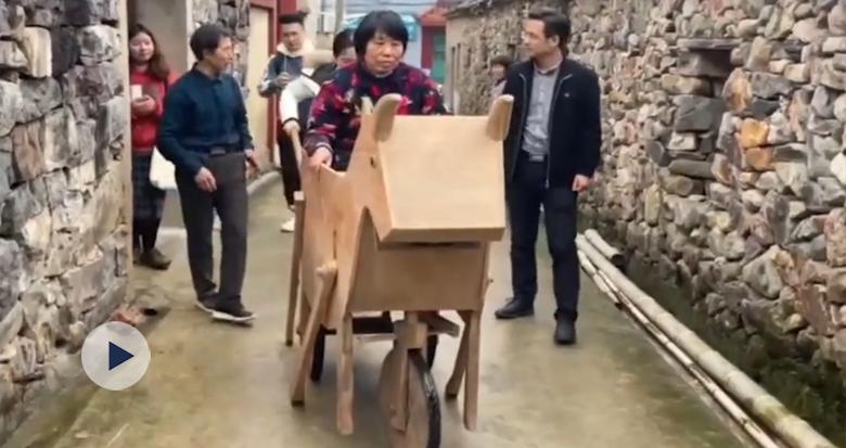 """宁海一村民复原诸葛亮发明的""""木牛流马"""""""