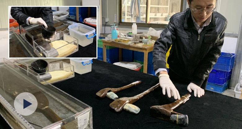 井头山遗址出土的木器代表8000年前最先进生产力