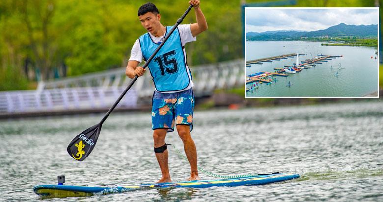 速度与技巧的比拼!2021年长三角桨板公开赛开赛