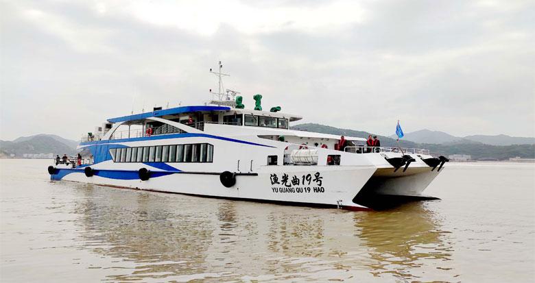 象山最大客位豪华旅游客船投入营运