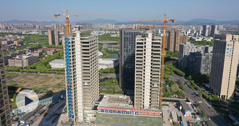 宁波数字传媒基地项目完成主体结构施工