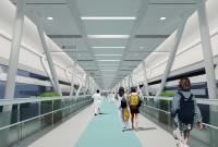 宁奉线方桥站直达市第一医院(方桥院区)连廊开建