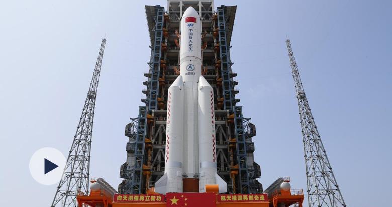 """中国空间站首舱""""天和核心舱""""发射任务取得圆满成功"""