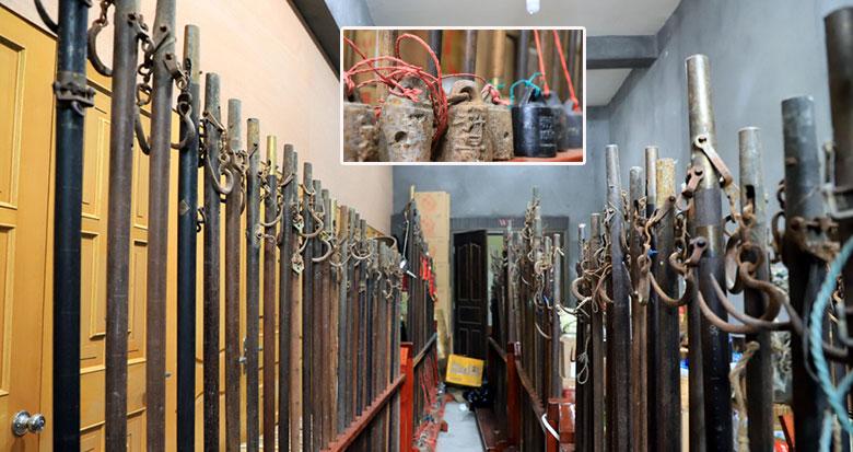 这位慈溪老人收藏600多杆大秤 最大的可称重175公斤