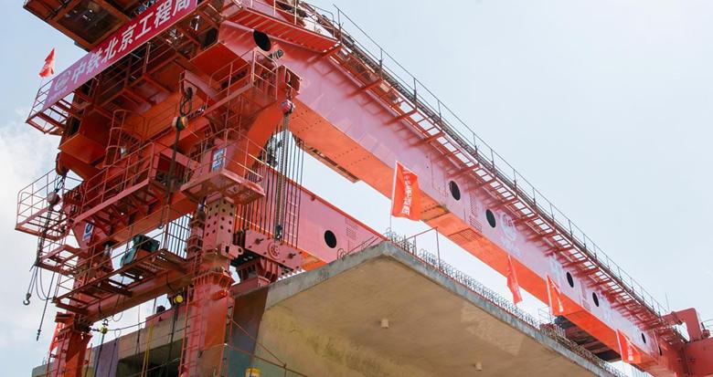 首榀箱梁架设成功 金甬铁路全线迈入架梁施工阶段
