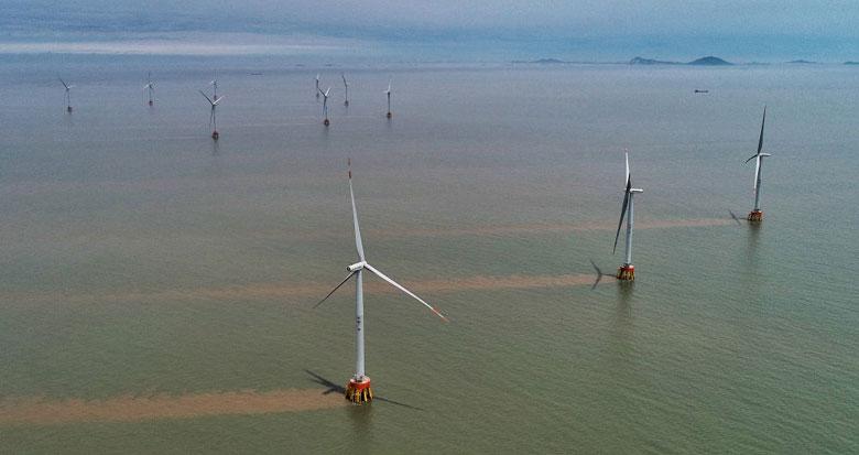 浙江省最大海上风电场群开始正式并网运行