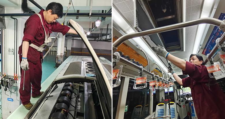 """迎接夏天 宁波2400辆公交车空调做了""""全面体检"""""""