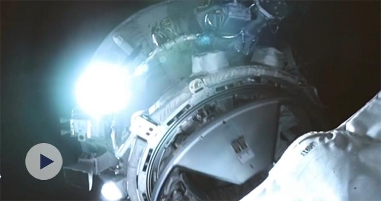天舟二号货运飞船与天和核心舱对接视频来了