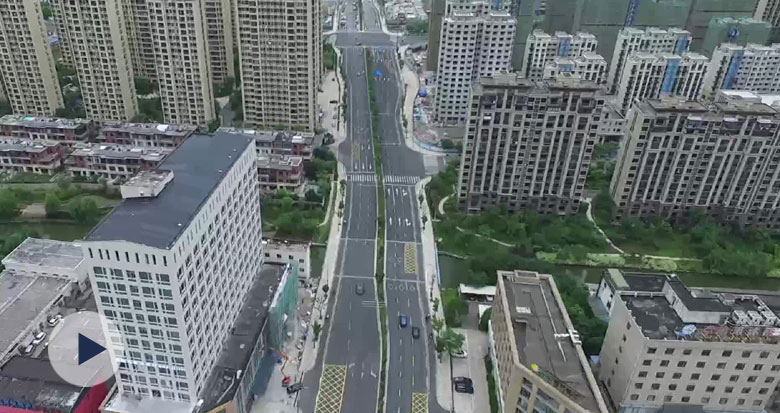 薛家路道路工程完工 全线通车