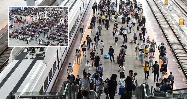 铁路宁波站迎客流高峰 假期首日客流以中短途为主