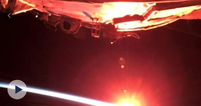 美!太空第一视角看日出日落