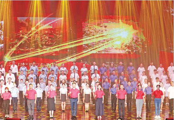《永远跟党走》鄞州区庆祝中国共产党 成立100周年主题文艺党课举行