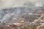 """美国加州""""熔岩""""山火持续燃烧 过火面积超70平方公里"""