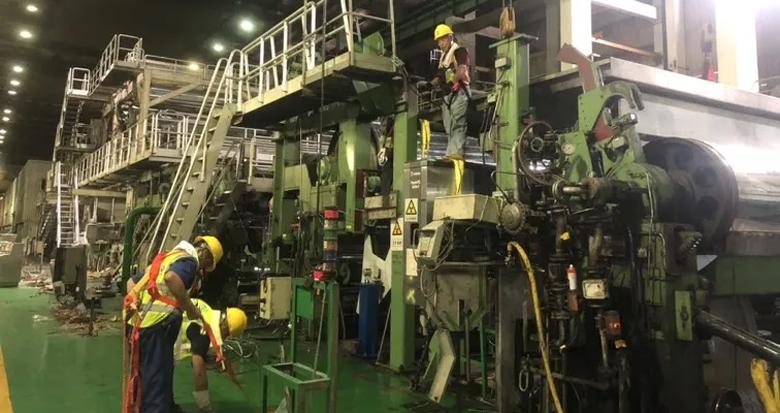宁波中华纸业厂区开始拆除!