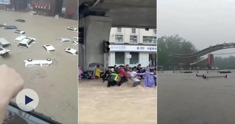 河南多地暴雨 现场视频曝光