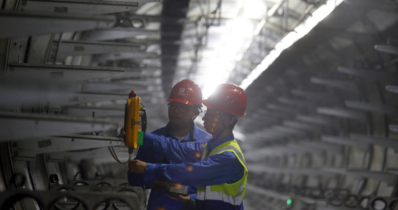 现场感受极为震撼!直击宁波这条省内最大电缆隧道