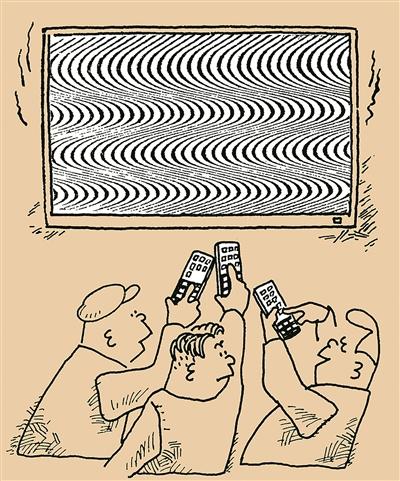 遥控多了,电视受不了 王祖和 绘