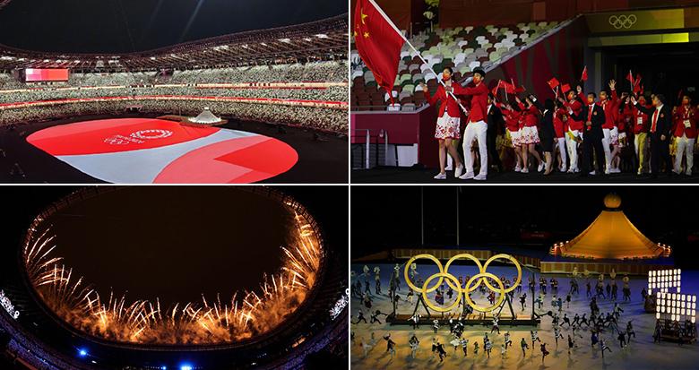 东京奥运会开幕 中国队亮相
