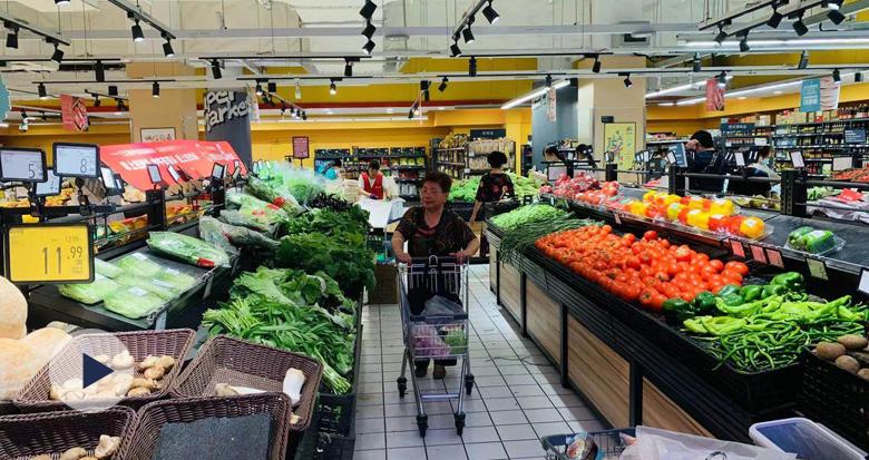 记者实地探访超市菜场 宁波粮油肉菜供应充足
