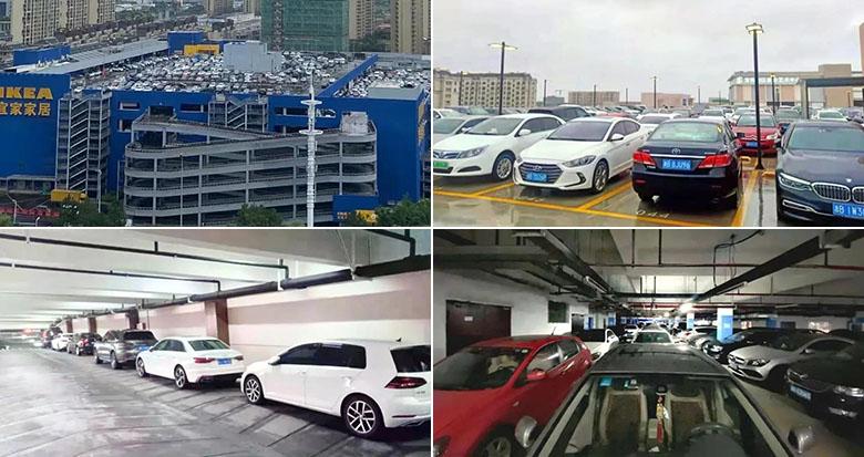 台风将至 宁波多个商场停业 楼顶的停车场却成了香饽饽