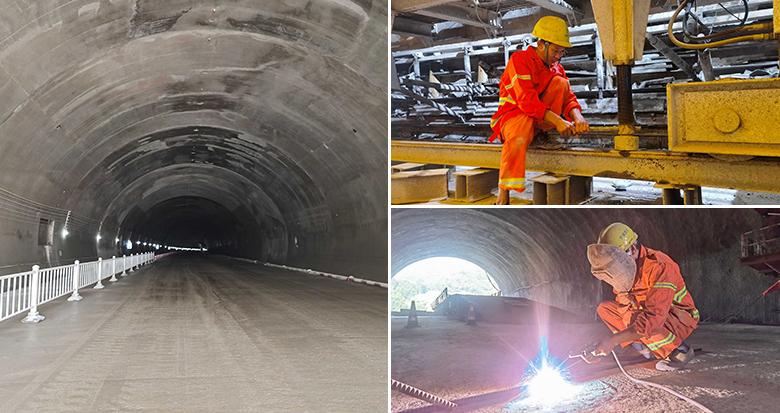 象山湾疏港高速凤盘山隧道双洞贯通