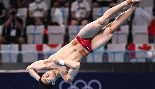 跳水男子三米板半决赛赛况