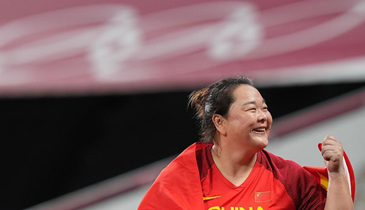 女子链球:中国选手王峥获得银牌